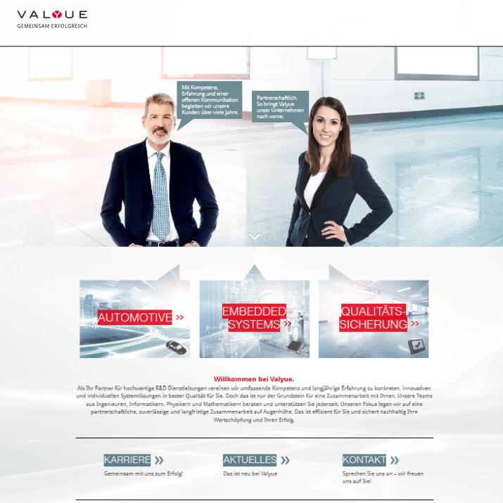 Neue Website von Valyue