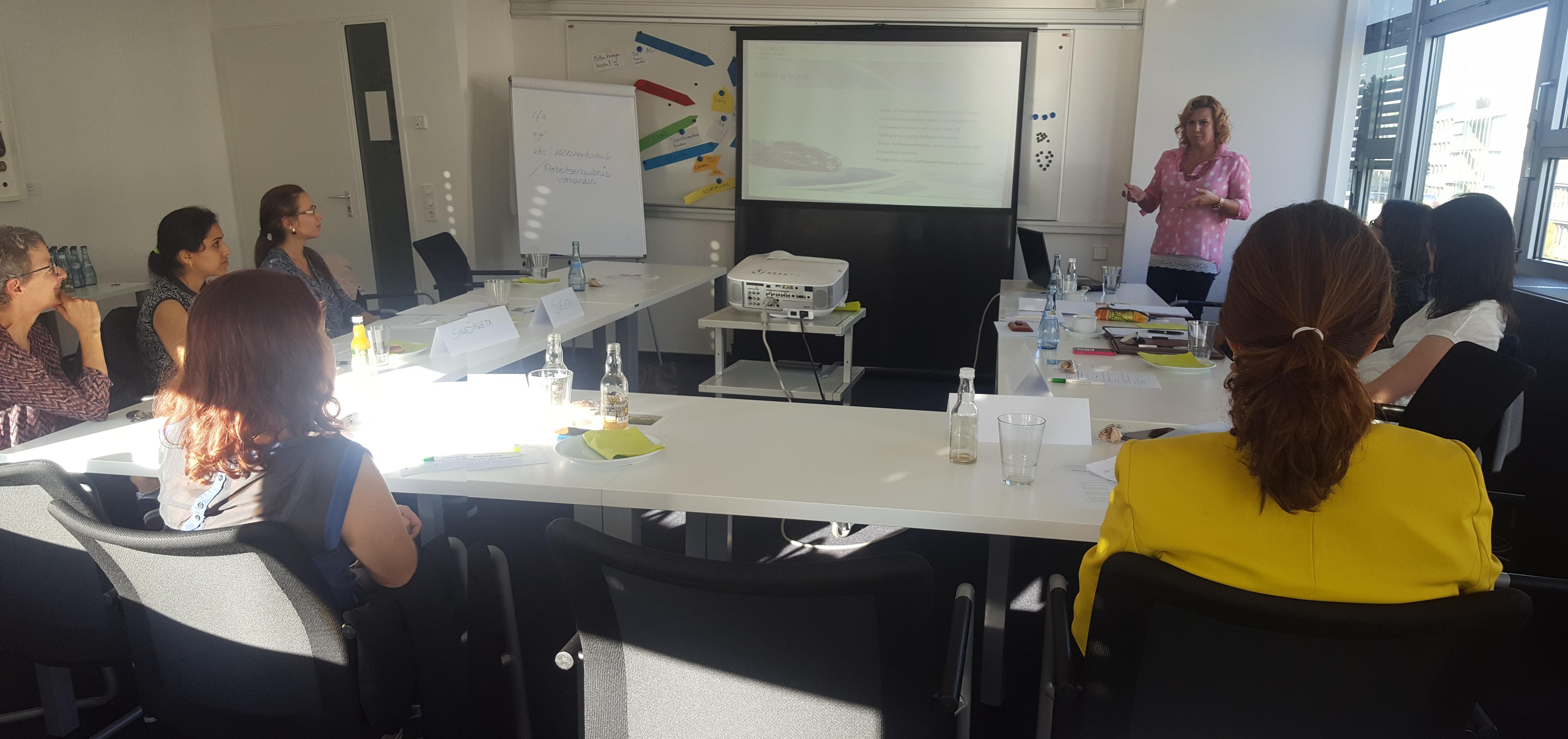Valyue beim Workshop der Wirtschaftsförderung Stuttgart